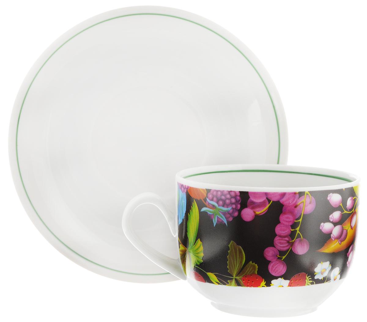 Чайная пара Фарфор Вербилок Август. Черная ягода, 2 предмета чайная пара фарфор вербилок капля полдня 2 предмета 1259593