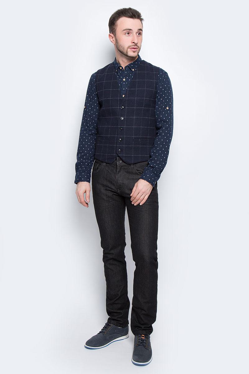 Жилет мужской Selected Homme, цвет: темно-синий. 16053203. Размер 56 пуловер мужской selected homme identity цвет бордовый 16051696 размер l 48
