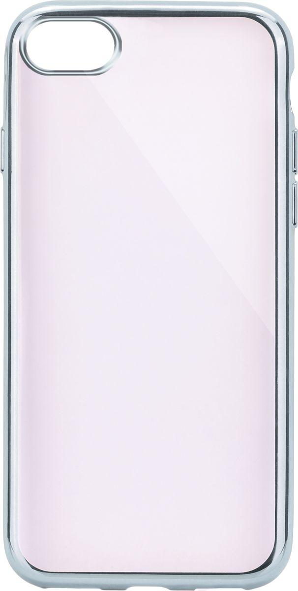Interstep Frame чехол для Apple iPhone 7, Silver чехол накладка interstep is frame для apple iphone 6 6s plus прозрачный с прокрашенным бампером серебристого цвета