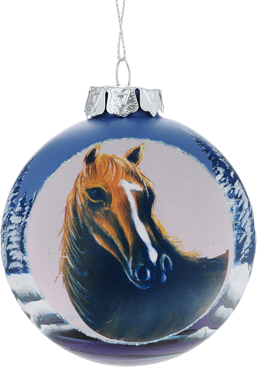Украшение новогоднее подвесное Winter Wings Лошадь, диаметр 8 см. N079071N079071Новогоднее подвесное украшение Winter Wings Лошадьвыполнено из стекла в виде шара с изображением лошади. С помощьюспециальной петельки украшение можно повесить в любом понравившемся вамместе. Но, конечно, удачнее всего оно будет смотреться на праздничной елке.Елочная игрушка - символ Нового года. Она несет в себе волшебство и красотупраздника. Создайте в своем доме атмосферу веселья и радости, украшаяновогоднюю елку нарядными игрушками, которые будут из года в год накапливатьтеплоту воспоминаний.