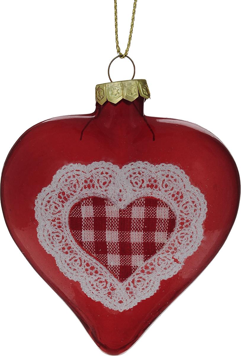Украшение новогоднее подвесное Winter Wings Сердце, высота 8 см. N07958N07958Новогоднее подвесное украшение Winter Wings Сердце выполнено из стекла в виде сердца. С помощью специальной петельки украшение можно повесить в любом понравившемся вам месте. Но, конечно, удачнее всего оно будет смотреться на праздничной елке.Елочная игрушка - символ Нового года. Она несет в себе волшебство и красоту праздника. Создайте в своем доме атмосферу веселья и радости, украшая новогоднюю елку нарядными игрушками, которые будут из года в год накапливать теплоту воспоминаний.