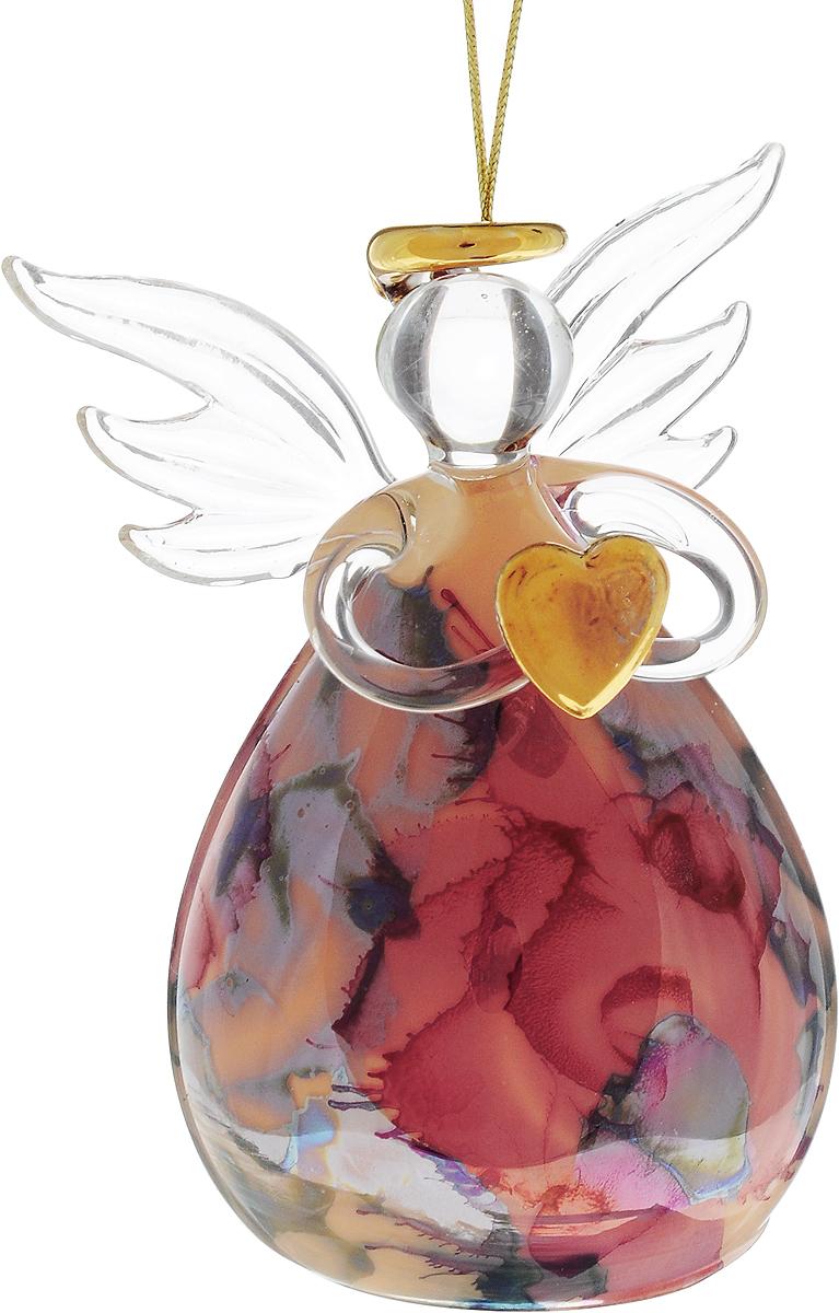 Украшение новогоднее подвесное Winter Wings Ангел с цветами, высота 9,5 смN07708Новогоднее подвесное украшение Winter Wings Ангел с цветами выполнено из стекла в виде ангела с сердцем. С помощью специальной петельки украшение можно повесить в любом понравившемся вам месте. Но, конечно, удачнее всего оно будет смотреться на праздничной елке.Елочная игрушка - символ Нового года. Она несет в себе волшебство и красоту праздника. Создайте в своем доме атмосферу веселья и радости, украшая новогоднюю елку нарядными игрушками, которые будут из года в год накапливать теплоту воспоминаний.