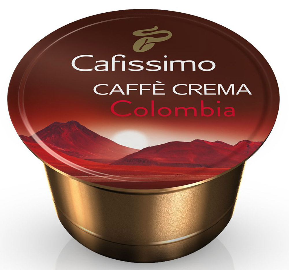 Cafissimo Cafе Crema Colombia кофе в капсулах, 10 шт Cafissimo