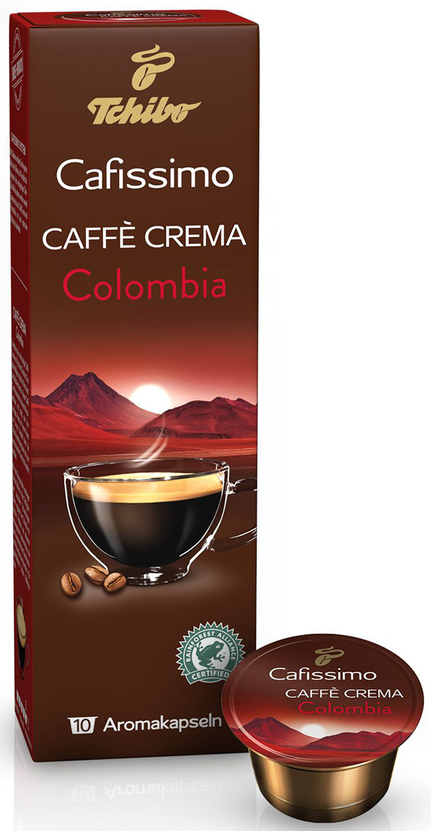 Cafissimo Cafе Crema Colombia кофе в капсулах, 10 шт ноутбук hp 15 ay095ur core i3 5005u 4gb 500gb intel hd graphics 5500 15 6 hd 1366x768 windows 10 64 black wifi bt cam 2850mah