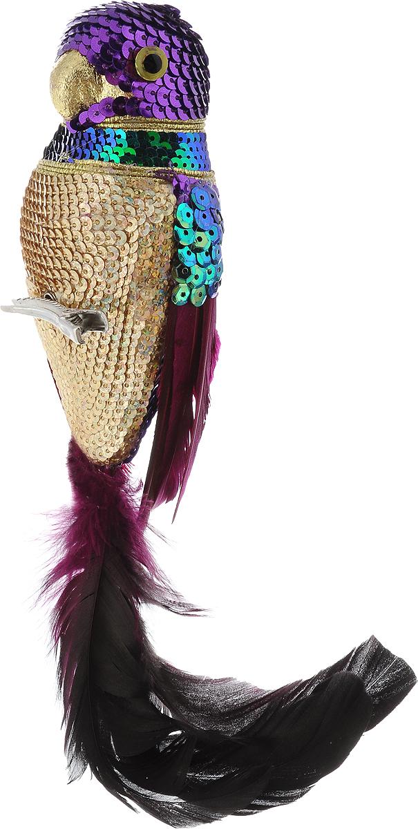 Украшение новогоднее подвесное Winter Wings Попугай, высота 25 смN069589Новогоднее подвесное украшение Winter Wings Попугайизготовлено из пластика, пенопласта и ПВХ. Изделие выполнено в виде фигуры попугая и украшено блестками. С помощьюспециальной прищепки украшение можно повесить в любом понравившемся вамместе. Но, конечно, удачнее всего оно будет смотреться на праздничной елке.Елочная игрушка - символ Нового года. Она несет в себе волшебство и красотупраздника. Создайте в своем доме атмосферу веселья и радости, украшаяновогоднюю елку нарядными игрушками, которые будут из года в год накапливатьтеплоту воспоминаний.