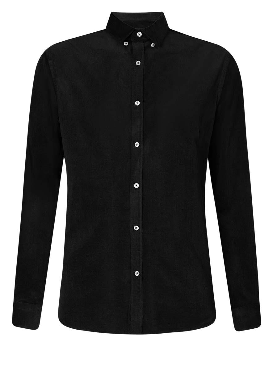 Рубашка мужская oodji Lab, цвет: черный. 3L110218M/44424N/2900N. Размер 38 (44-182) юбка oodji collection цвет черный карамельный 21600297 1 43561 294bl размер 38 44 170