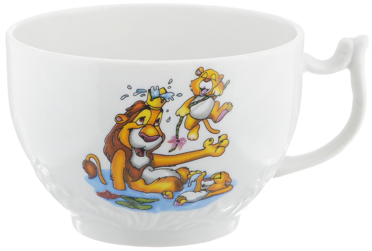 Чашка чайная Фарфор Вербилок Лев, 200 мл577128Чайная чашка Фарфор Вербилок Лев способна скрасить любое чаепитие. Изделие выполнено из высококачественного фарфора. Посуда из такого материала позволяет сохранить истинный вкус напитка, а также помогает ему дольше оставаться теплым.Диаметр по верхнему краю: 8,2 см.Высота чашки: 6 см.Уважаемые клиенты! Обращаем ваше внимание на допустимые производителем незначительные изменения в дизайне товара, некоторые детали рисунка могут отличаться от товара, изображенного на фотографии. Поставка осуществляется в зависимости от наличия на складе.