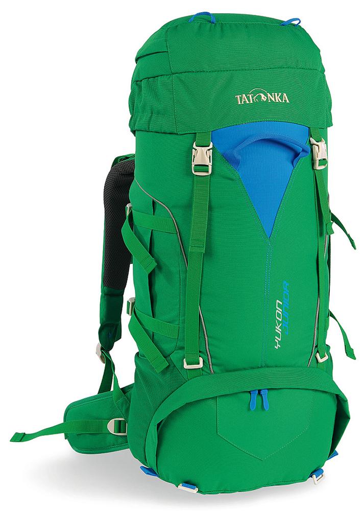 Рюкзак туристический детский Tatonka Yukon Junior, цвет: зеленый, синий, 32 л1410.404Походный туристический рюкзак Tatonka Yukon Junior подходит для детей от 10 лет. Внутренний объем в 32 литра позволяет юному туристу разместить внутри все необходимые вещи. Регулируемая система спины Y1 позволяет настроить рюкзак под конкретные параметры ребенка, что делает переносу рюкзака очень комфортной.Особенности:- подвеска Y1;- перегородка между верхним и нижним отделениями;- возможность закрепить трекинговые палки или ледоруб;- утягивающие ремни; - нагрудный ремень со свистком;- ручка спереди и сзади;- отделение в крышке рюкзака с держателем для ключей;- боковые сетчатые кармашки.