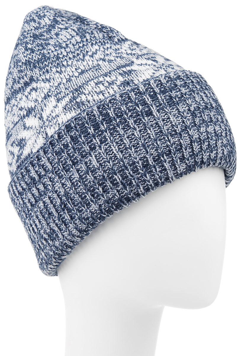 Шапка мужская Icepeak, цвет: синий. 658838579IV. Размер универсальный658838579IVКлассическая мужская шапка Icepeak отлично дополнит ваш образ в холодную погоду. Изготовленная из 100% акрила, она необычайно мягкая и приятная на ощупь.Модель оформлена интересным узором и дополнена отворотом.