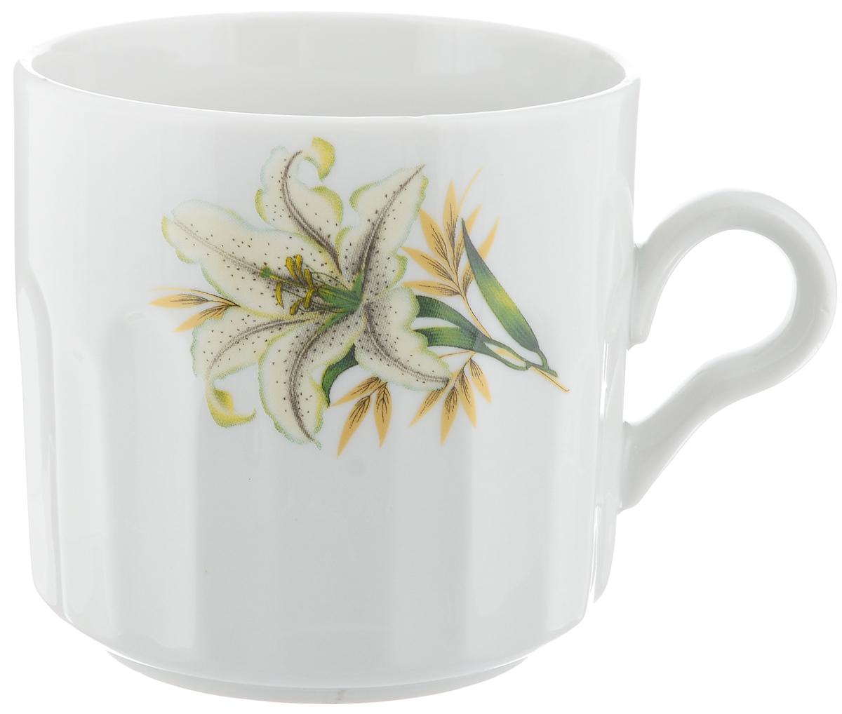 Кружка Фарфор Вербилок Белая лилия, 500 мл5721980Кружка Фарфор Вербилок Белая лилия способна скрасить любое чаепитие. Изделие выполнено из высококачественного фарфора. Посуда из такого материала позволяет сохранить истинный вкус напитка, а также помогает ему дольше оставаться теплым.Диаметр по верхнему краю: 9,5 см.Высота кружки: 9,5 см.