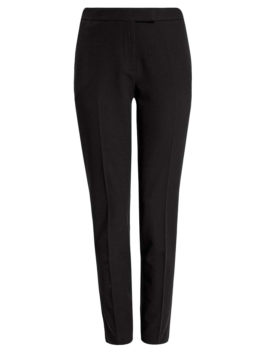 Брюки женские oodji Collection, цвет: черный. 21700201B/18600/2900N. Размер 44 (50-170)