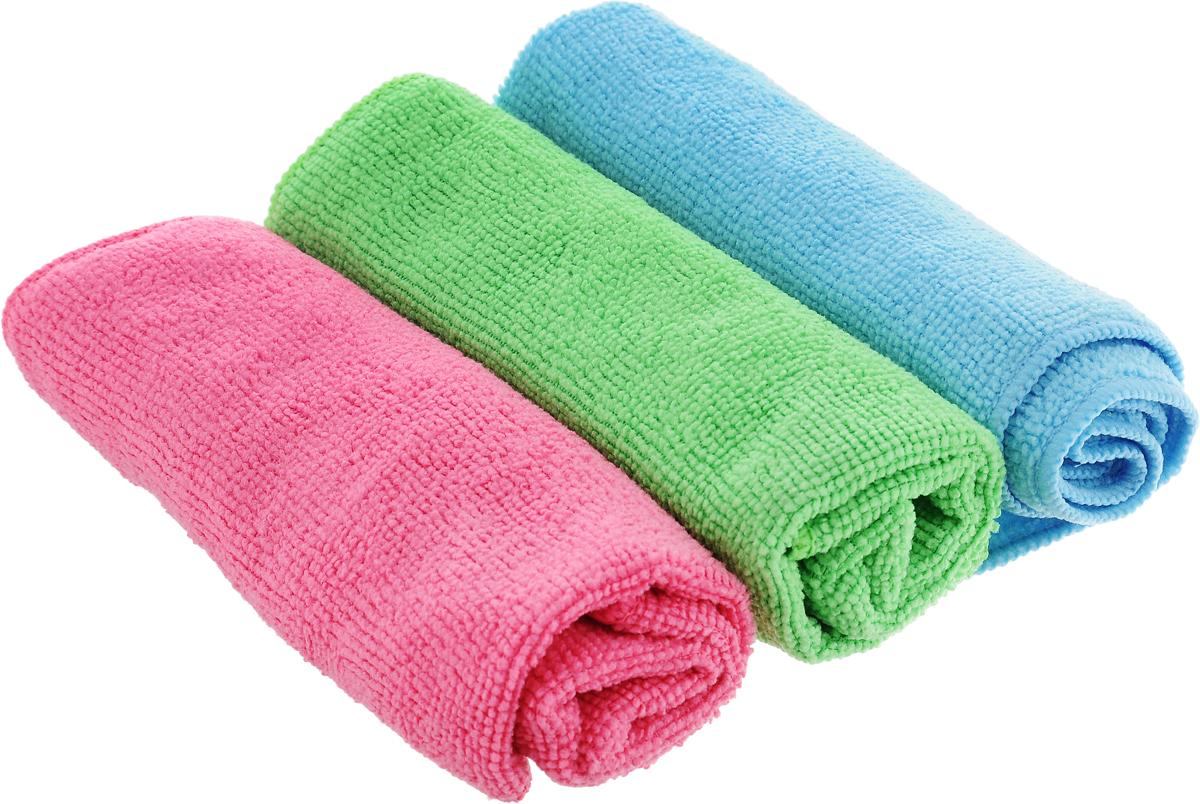 Набор салфеток для уборки Sol, из микрофибры, цвет: розовый, салатовый, голубой, 30 x 30 см, 3 шт3902Набор салфеток Sol выполнен из микрофибры. Микрофибра - это ткань из тонких микроволокон, которая эффективно очищает поверхности благодаря капиллярному эффекту между ними. Такая салфетка может использоваться как для сухой, так и для влажной уборки. Деликатно очищает любые поверхности, не оставляя следов и разводов. Идеально подходит для протирки полированной мебели. Сохраняет свои свойства после стирки.
