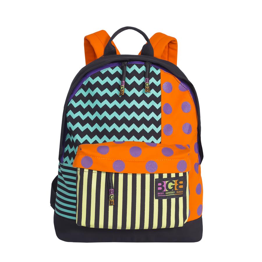 Рюкзак городской женский Grizzly, цвет: черный, мультиколор, 16 л. RD-750-3/2 рюкзак городской ufo people цвет черный 18 л 036 3
