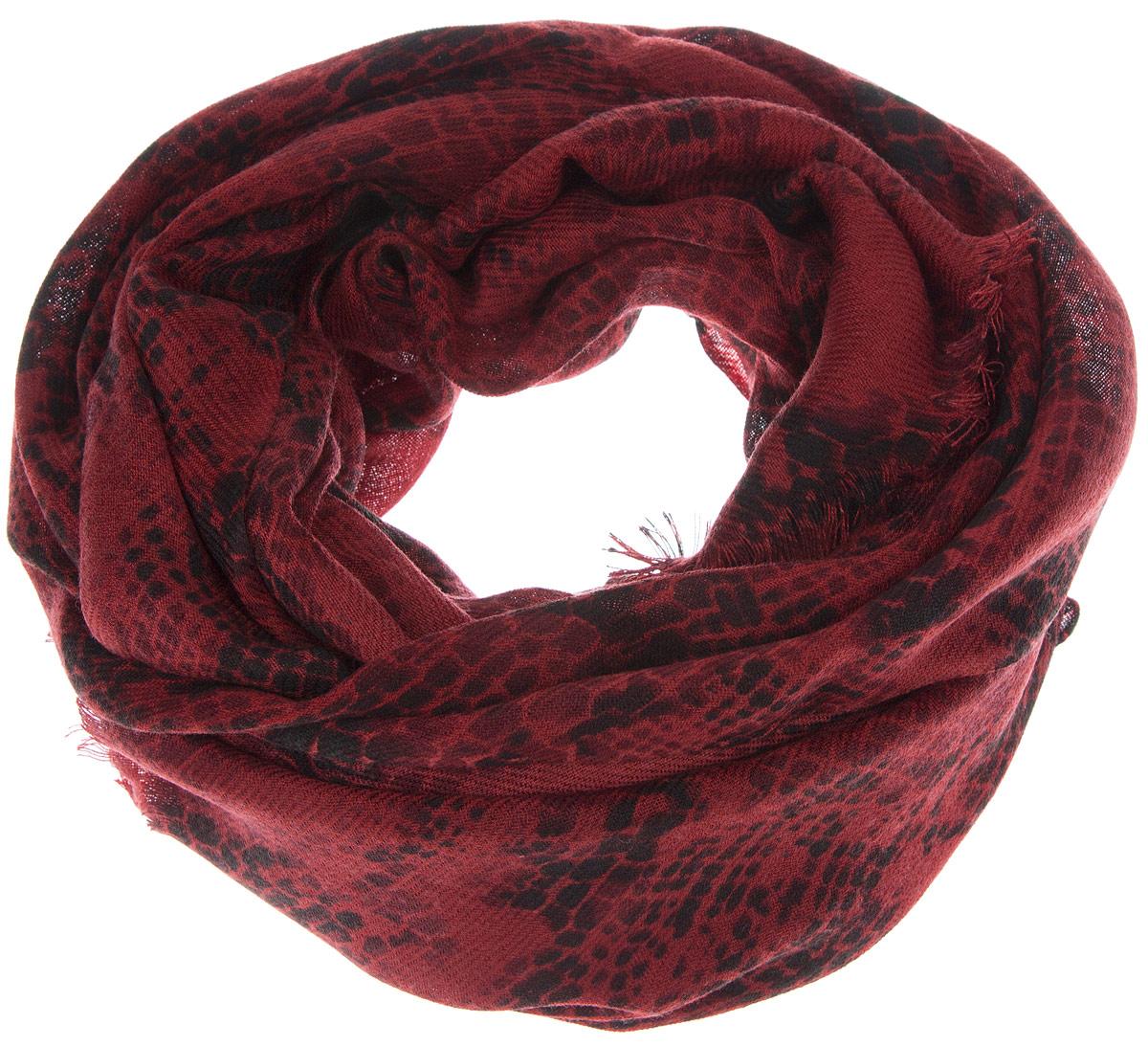 Палантин Mexx, цвет: темно-красный, черный. MX3024820_WM_SHL_010. Размер 75 см х 100 смMX3024820_WM_SHL_010Элегантный палантин Mexx изготовлен из высококачественного полиакрила. Он оформлен оригинальным принтом и по дополнен небольшой бахромой. Такой палантин превосходно дополнит любой наряд и подчеркнет ваш изысканный вкус.