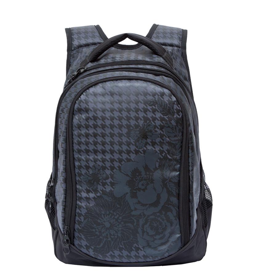 Рюкзак городской женский Grizzly, цвет: черный, серый, 22 л. RD-742-1/3 рюкзак городской женский grizzly цвет хаки 16 л rd 533 1 4