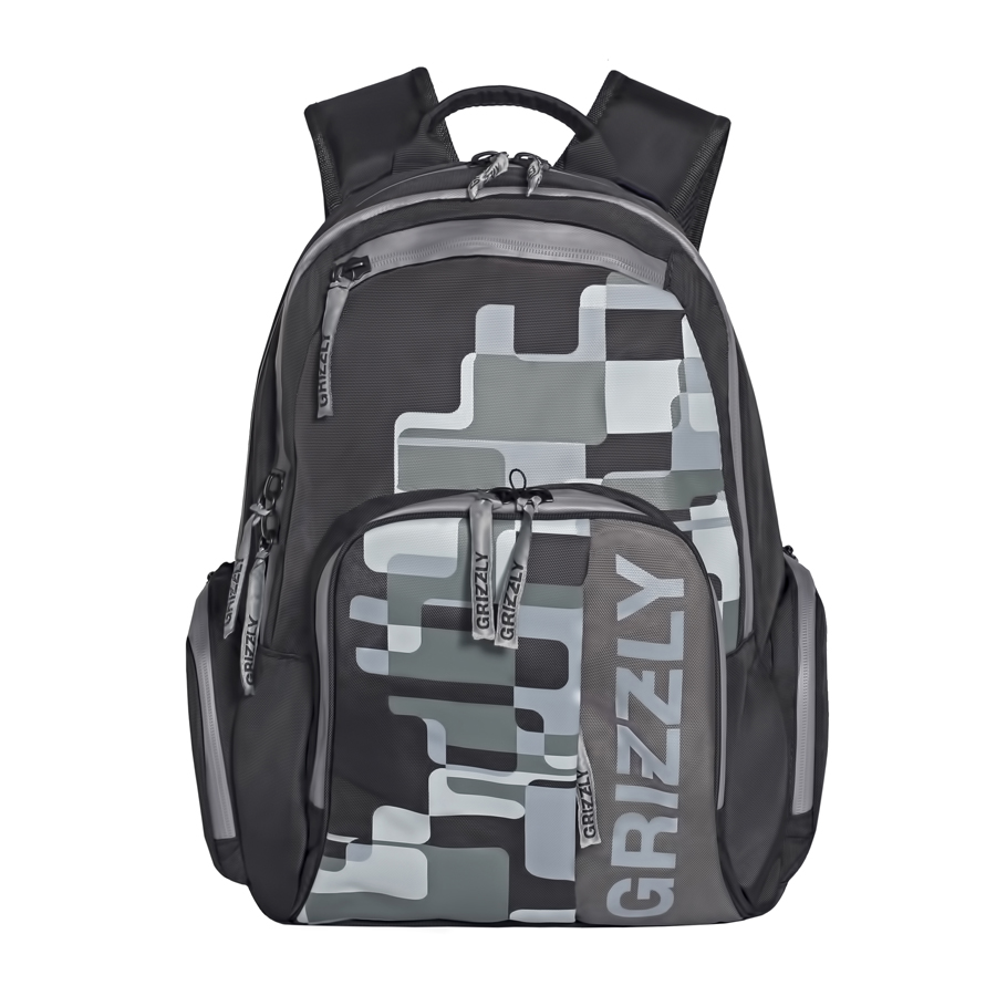 Рюкзак городской мужской Grizzly, цвет: темно-серый, 24 л. RU-719-1/3