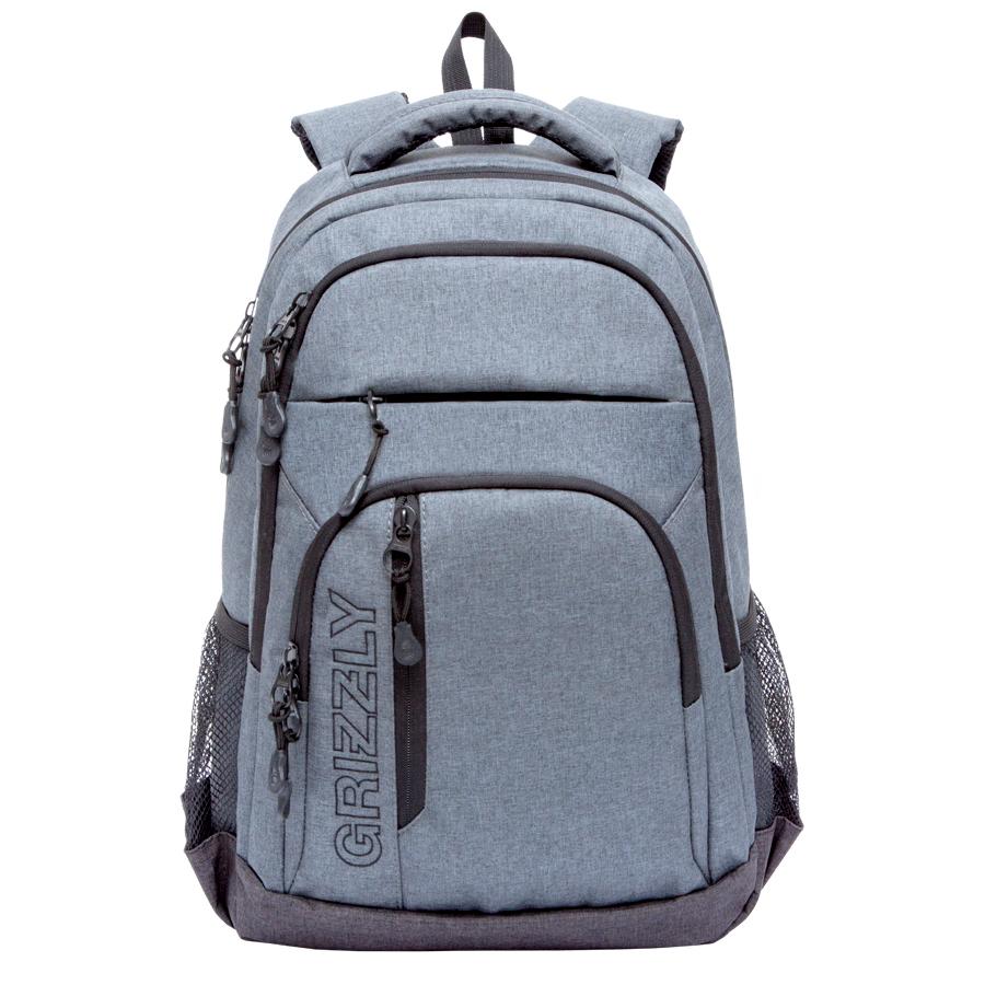 Рюкзак городской Grizzly, цвет: черный, серый, 26 л. RU-700-5/2 рюкзак городской grizzly цвет черный желтый 22 л ru 603 1 2