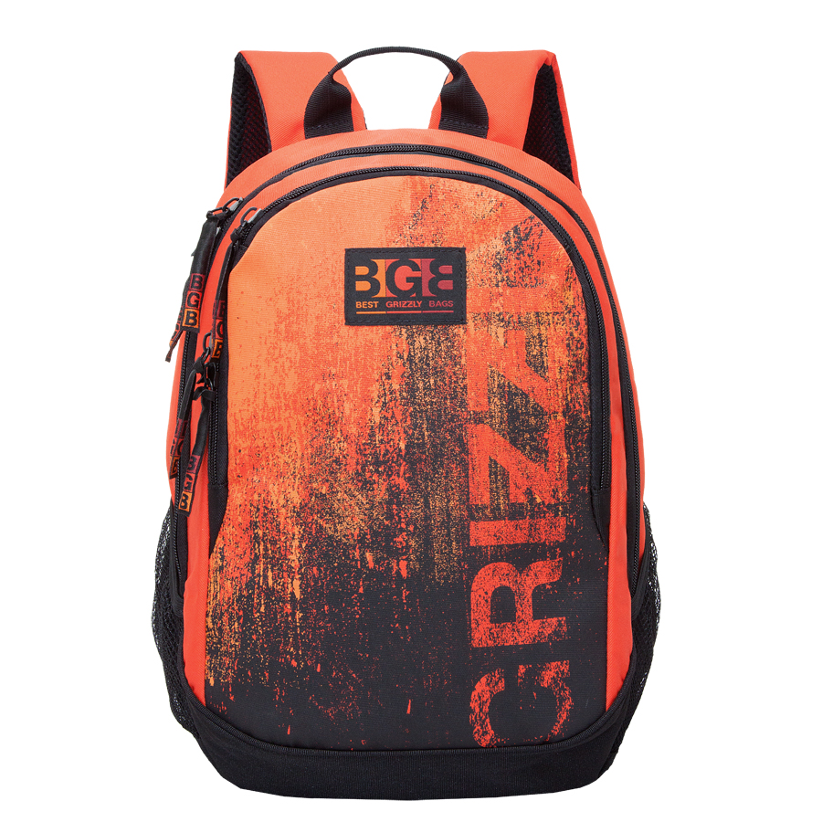 Рюкзак молодежный мужской Grizzly, цвет: оранжевый, 22 л. RU-603-1/4RU-603-1/4Рюкзак молодежный Grizzly содержит два отделения, карман на молнии на передней стенке, боковые карманы из сетки, внутренний карман на молнии, внутренний карман-пенал для карандашей, внутренний подвесной карман на молнии, жесткая анатомическая спинка, дополнительная ручка-петля, укрепленные лямки.