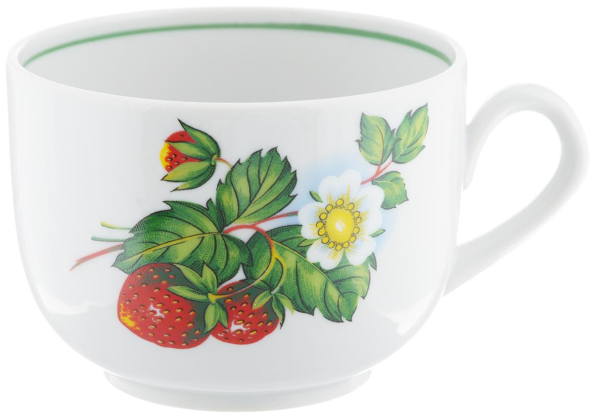 Чашка чайная Фарфор Вербилок Август. Цветущая земляника, 300 мл767149КЧайная чашка Фарфор Вербилок Август. Цветущая земляника способна скрасить любое чаепитие. Изделие выполнено из высококачественного фарфора. Посуда из такого материала позволяет сохранить истинный вкус напитка, а также помогает ему дольше оставаться теплым.Диаметр по верхнему краю: 8,5 см.Высота чашки: 6,5 см.