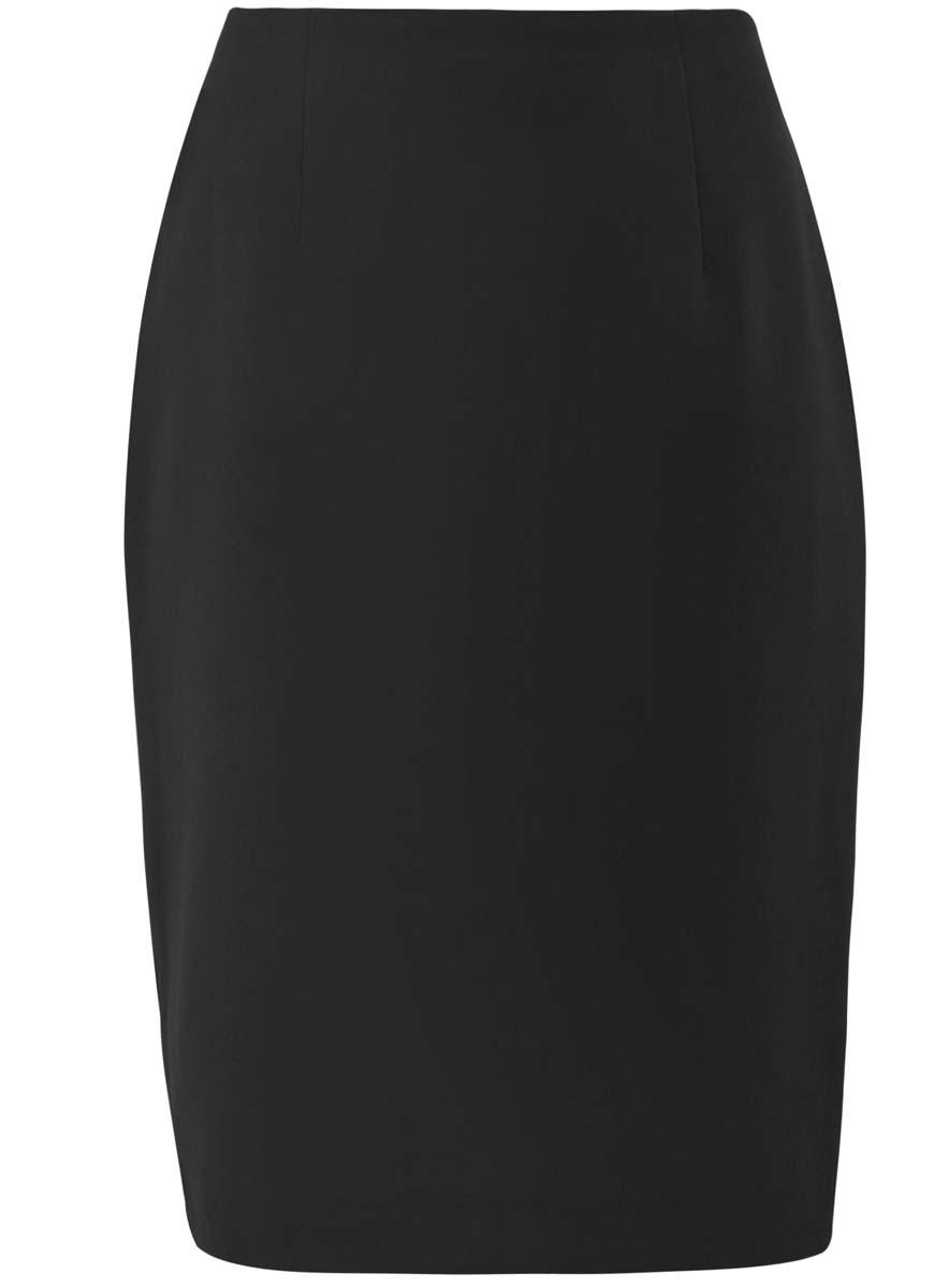 Юбка oodji Collection, цвет: черный. 21600282M/42314/2900N. Размер 44 (50-170) юбка oodji collection цвет черный 21600284 1 42352 2900n размер 44 170 50 170
