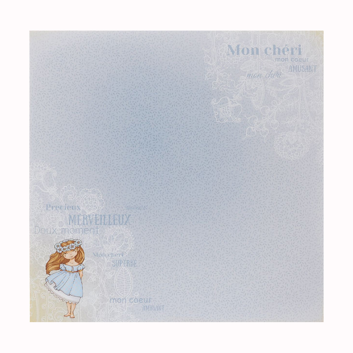 Бумага для скрапбукинга ScrapBerrys Мальчик и девочка. Витать в облаках, двухсторонняя, 30,5 х 30,5 см, 10 листов. 488625488625