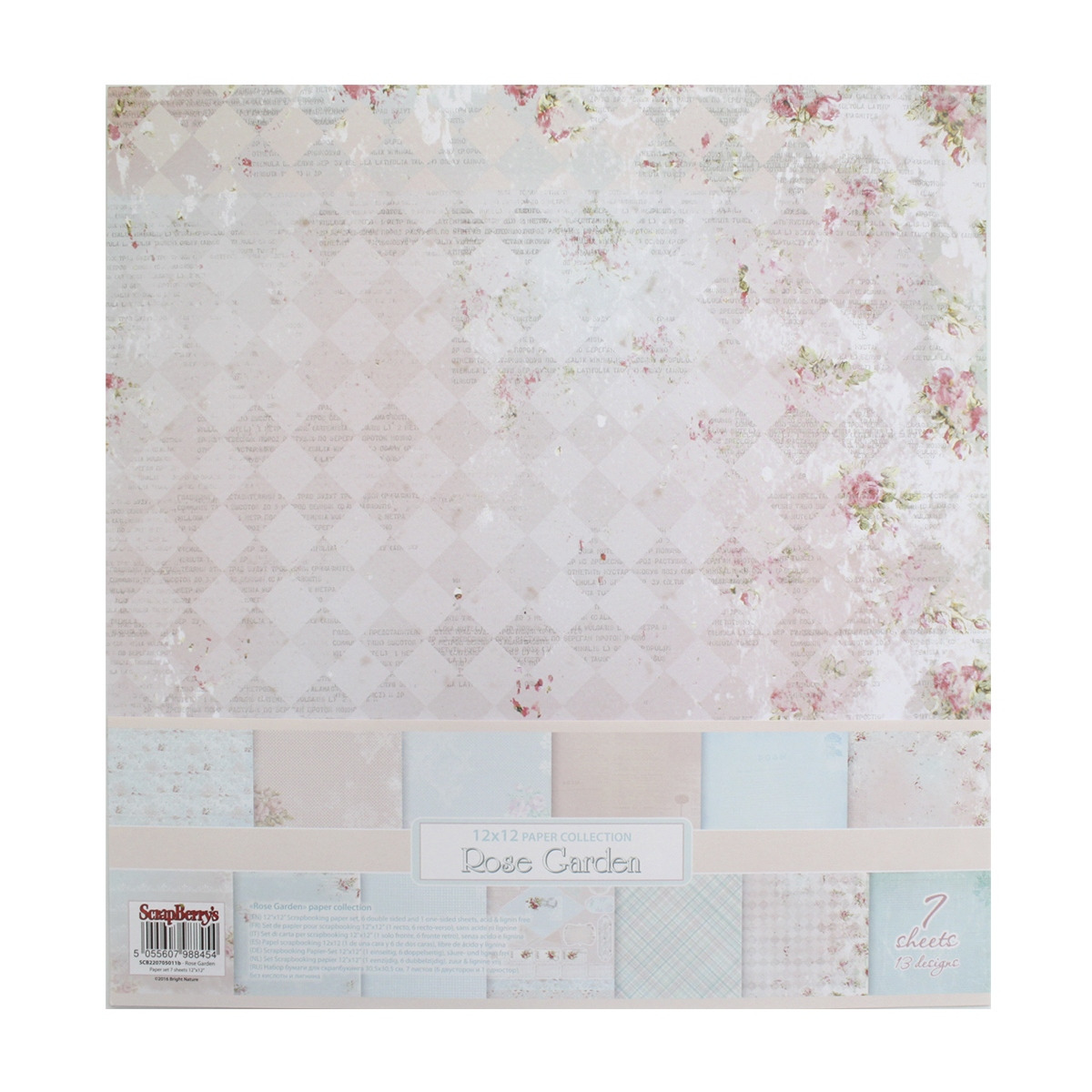 Бумага для скрапбукинга ScrapBerrys Розы, 30,5 х 30,5 см, 7 листов. 497095497095