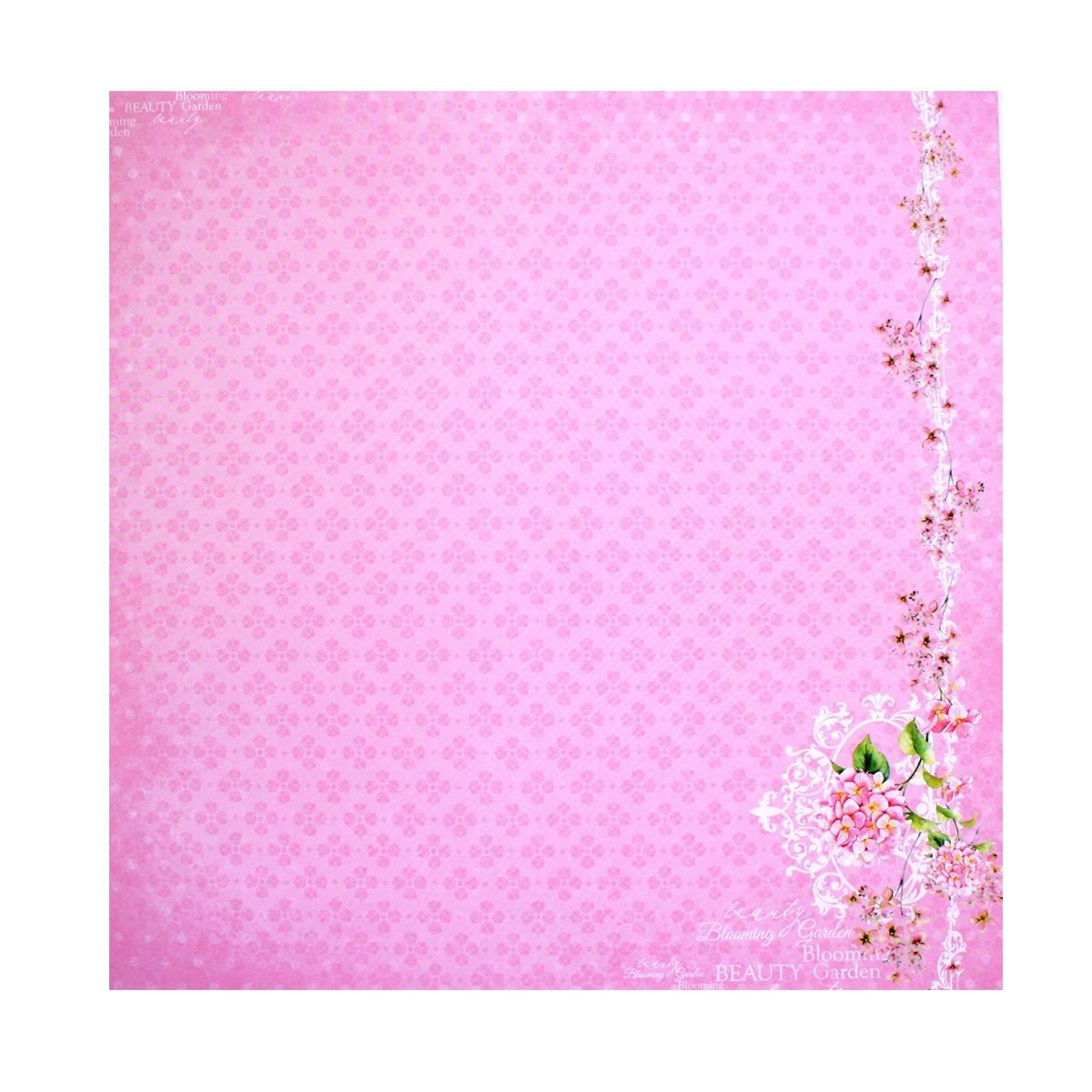 Бумага для скрапбукинга ScrapBerrys Цветущий сад. Вишневый цвет, 30,5 х 30,5 см, 10 листов. 497507497507