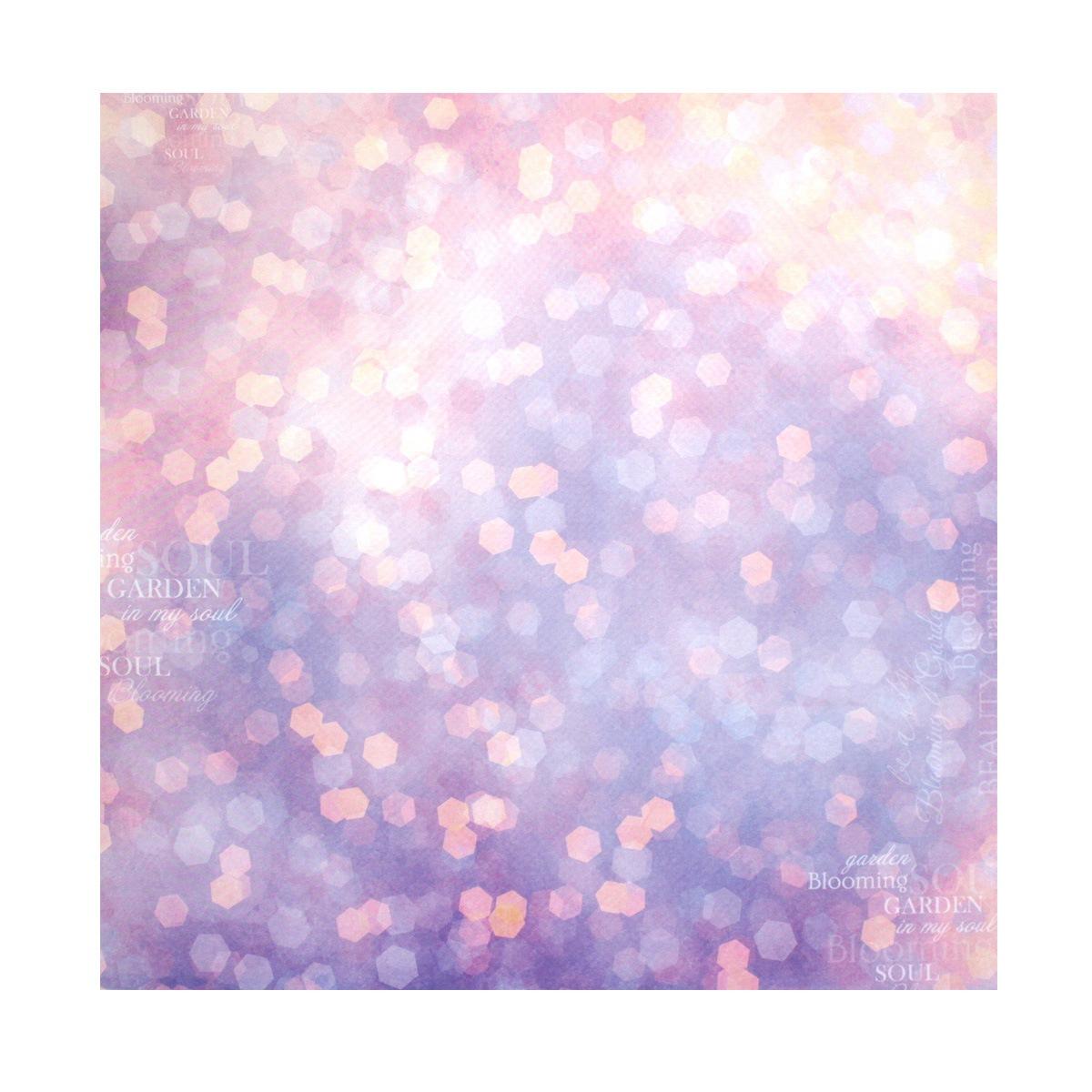 Бумага для скрапбукинга ScrapBerrys Цветущий сад. Розовое боке, 30,5 х 30,5 см, 10 листов. 497514497514