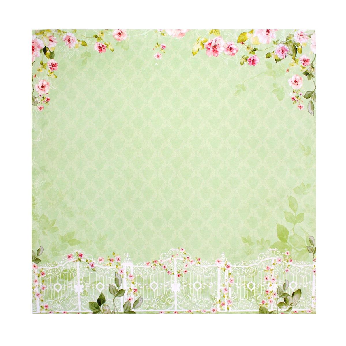 Бумага для скрапбукинга ScrapBerrys Цветущий сад. Розовый вьюн, 30,5 х 30,5 см, 10 листов. 497515497515