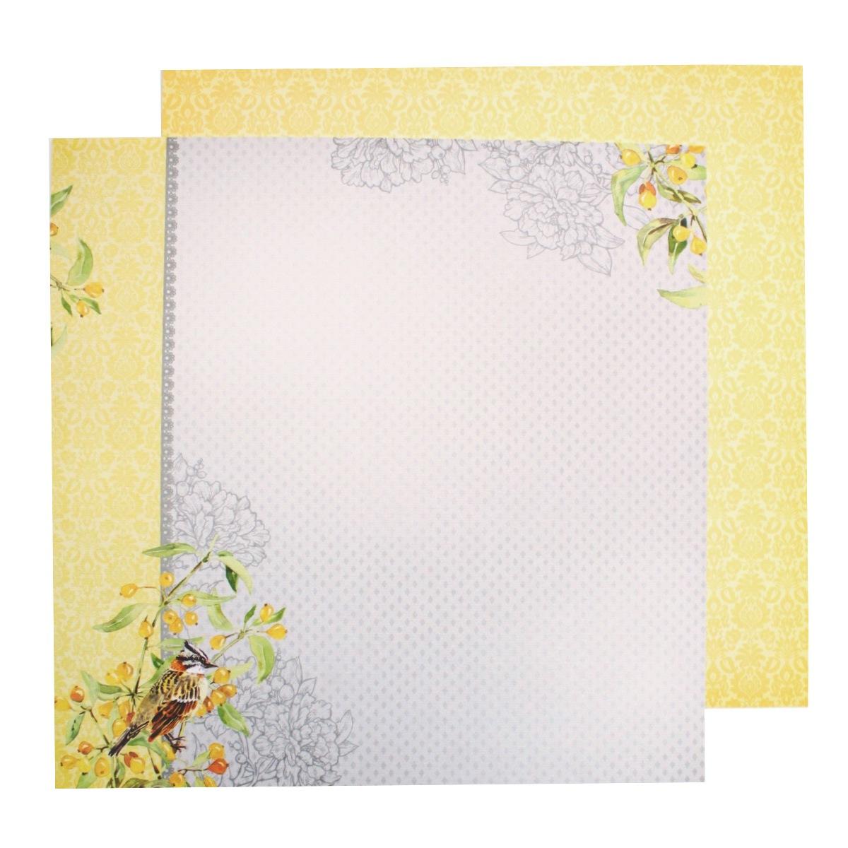Бумага для скрапбукинга ScrapBerrys Разрисованная вуаль. Сады Фонтебло, двухсторонняя, 30,5 х 30,5 см, 10 листов. 497552497552