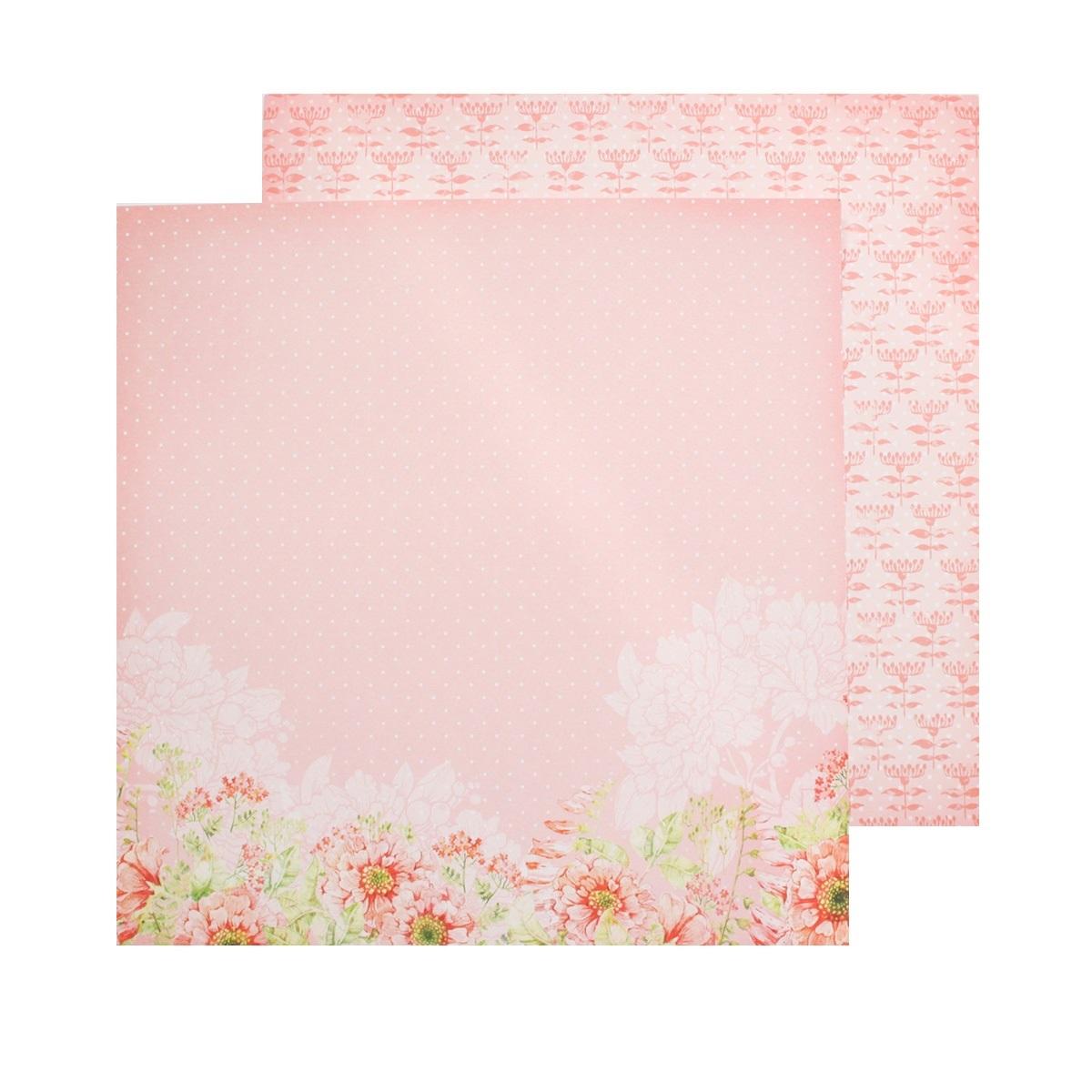 Бумага для скрапбукинга ScrapBerrys Разрисованная вуаль. Алый закат, двухсторонняя, 30,5 х 30,5 см, 10 листов. 497555497555