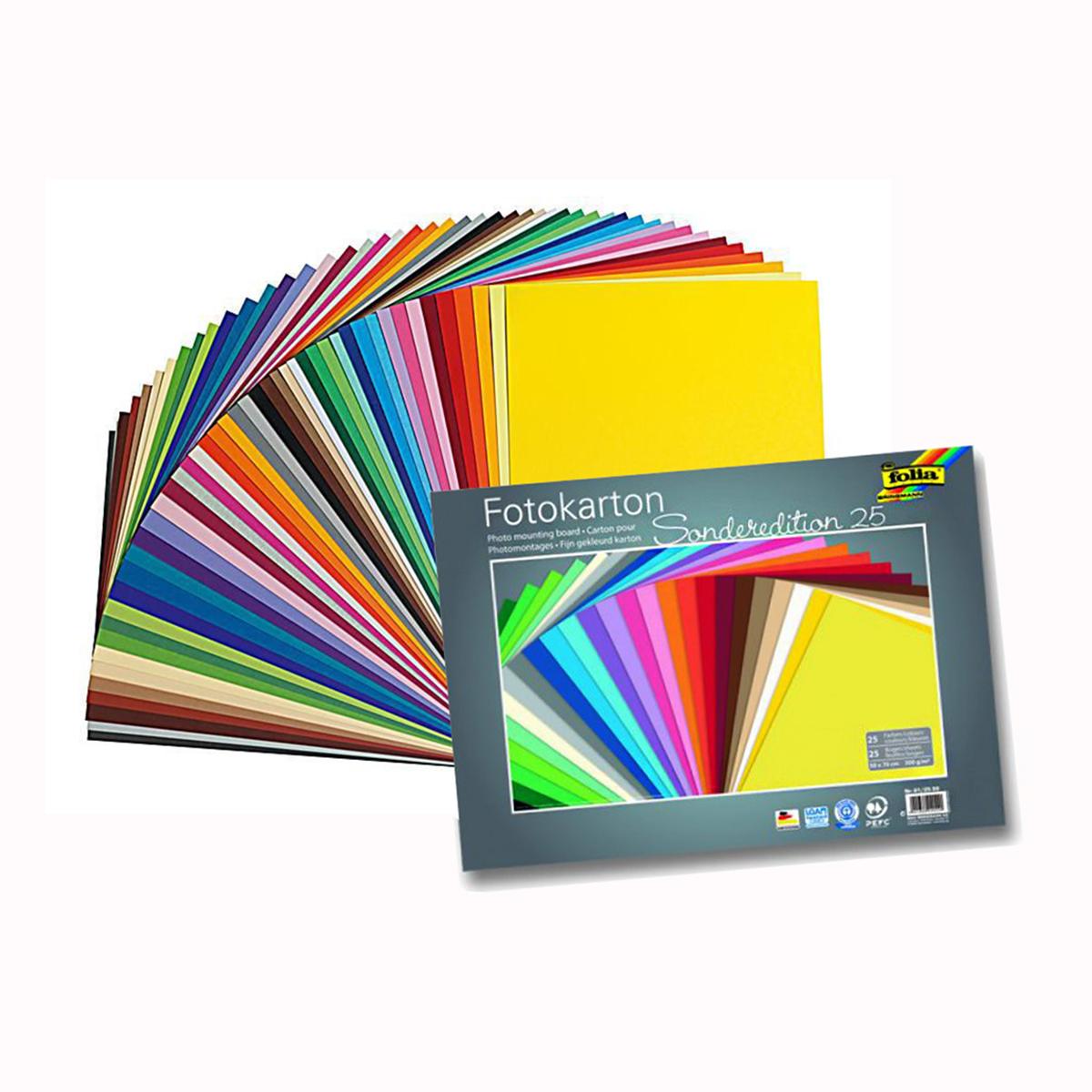 Набор картона Folia, цвет: мультиколор, 25 х 35 см, 25 листов. 77143597714359