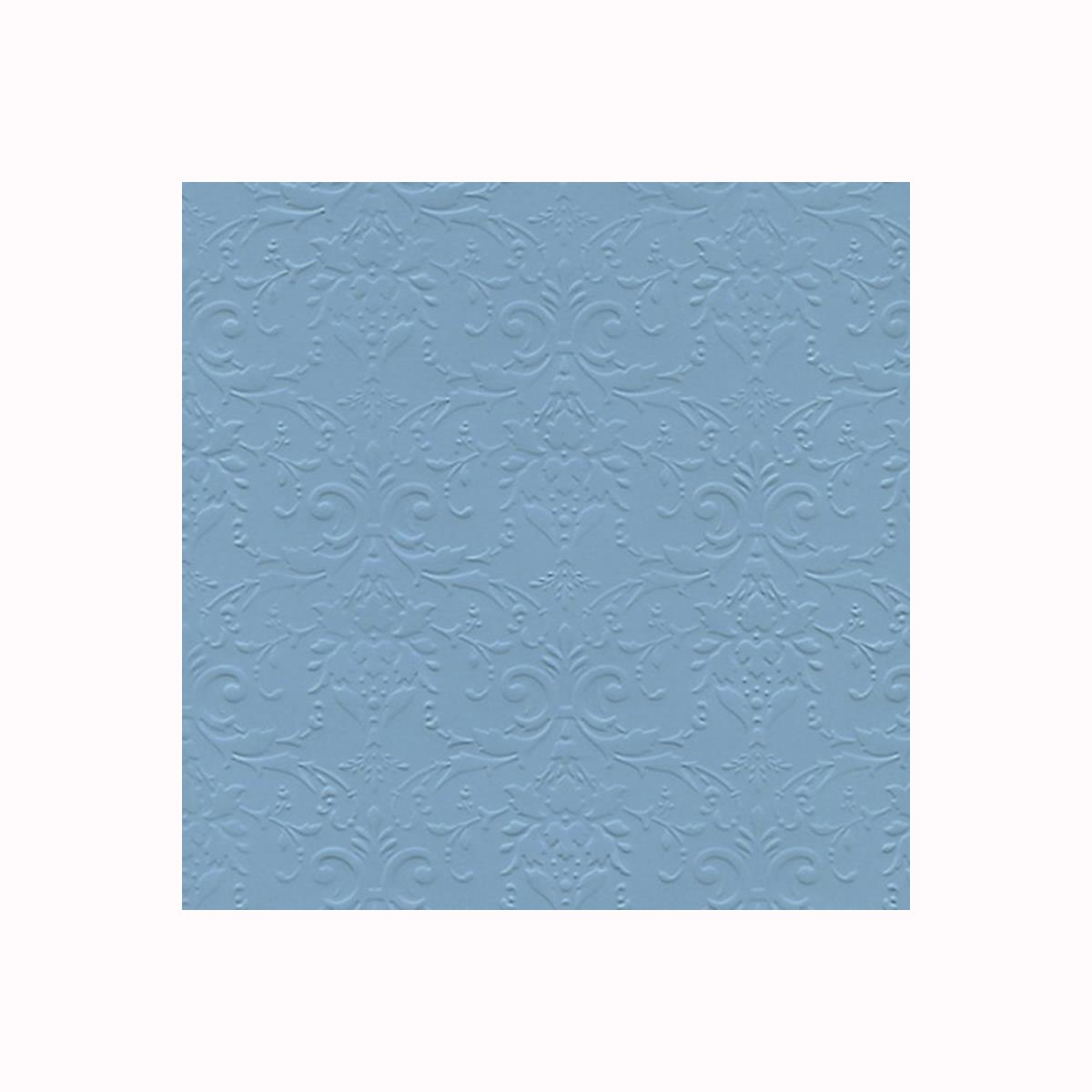 """Бумага фактурная Лоза """"Дамасский узор"""", цвет: ярко-голубой, 3 листа"""