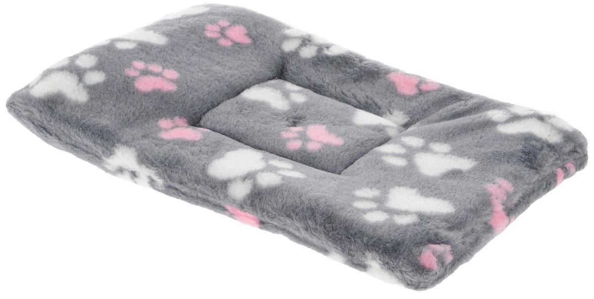 """Лежак для животных Elite Valley """"Матрасик"""", цвет: серый, белый, розовый, 40 х 25 см. Л-8/1"""