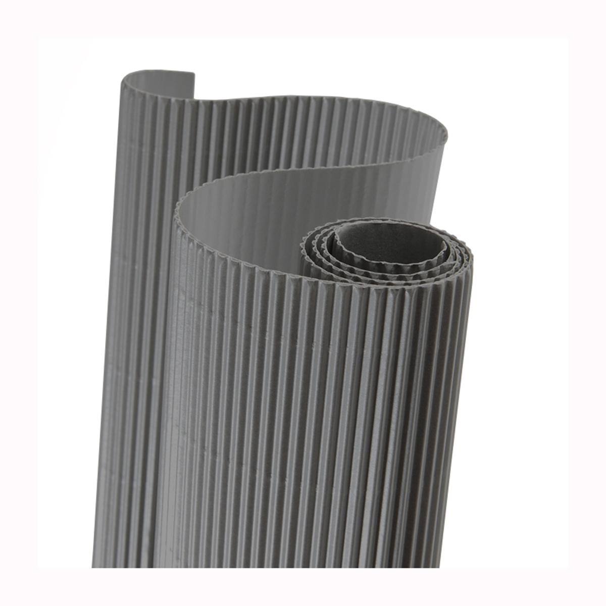 Картон гофрированный Folia, цвет: серый, 50 х 70 см7710888_80 серыйДвухслойный гофрированный картон Folia в основном применяется для декорирования. Он состоит из одного слоя плоского картона и слоя бумаги, имеющую волнообразную (гофрированную) форму. Отличается малым весом и высокими физическими параметрами.Применение: для дизайнерских и оформительских работ, для декоративного детского творчества. Также такой материал хорошо зарекомендовал себя в качестве упаковочного материала.