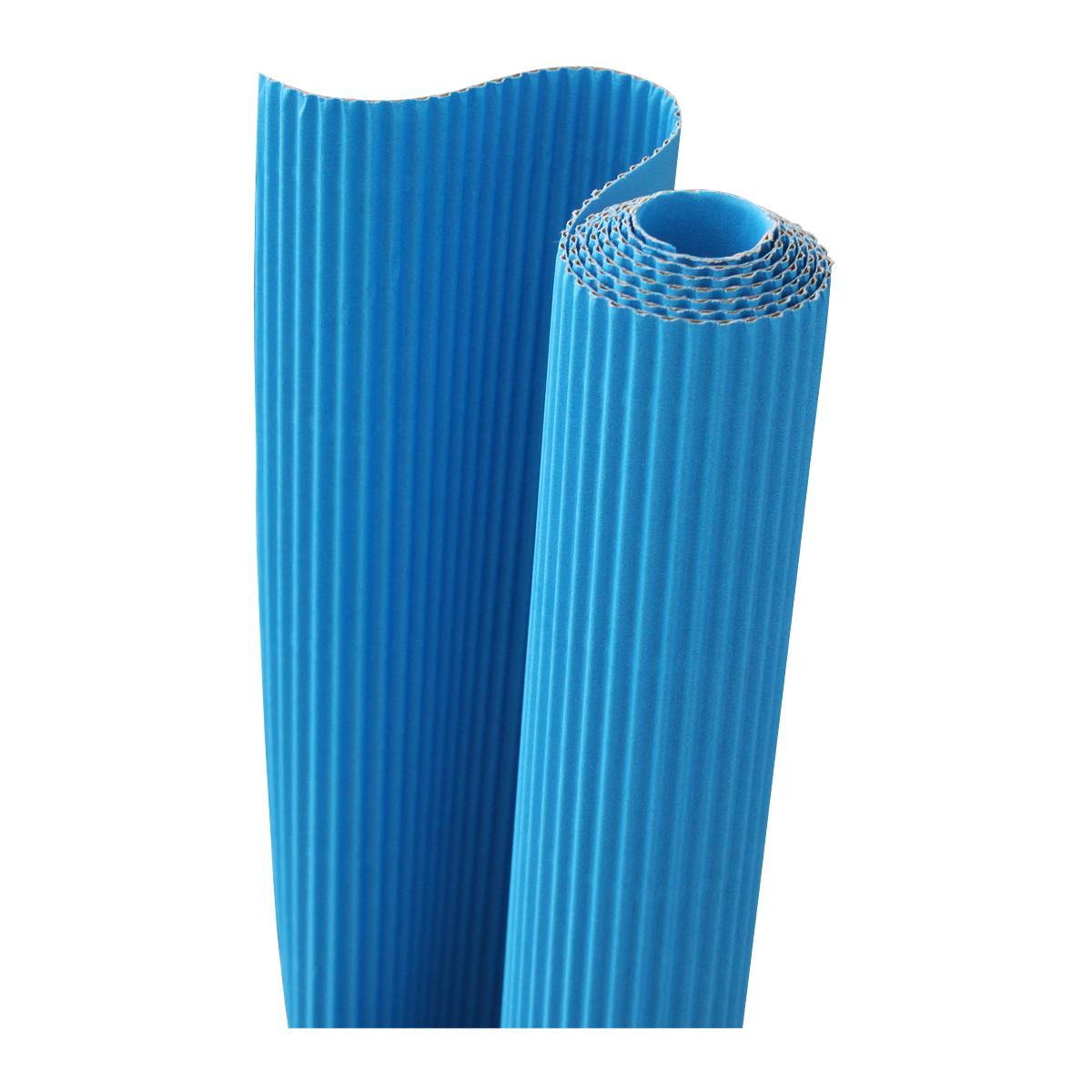 Картон гофрированный Folia, цвет: голубой, 50 х 70 см7710888_33 голубойДвухслойный гофрированный картон Folia в основном применяется для декорирования. Он состоит из одного слоя плоского картона и слоя бумаги, имеющую волнообразную (гофрированную) форму. Отличается малым весом и высокими физическими параметрами.Применение: для дизайнерских и оформительских работ, для декоративного детского творчества. Также такой материал хорошо зарекомендовал себя в качестве упаковочного материала.