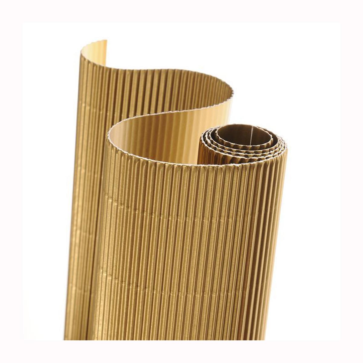 Картон гофрированный Folia, цвет: золото, 50 х 70 см. 77108897710889_65 золото