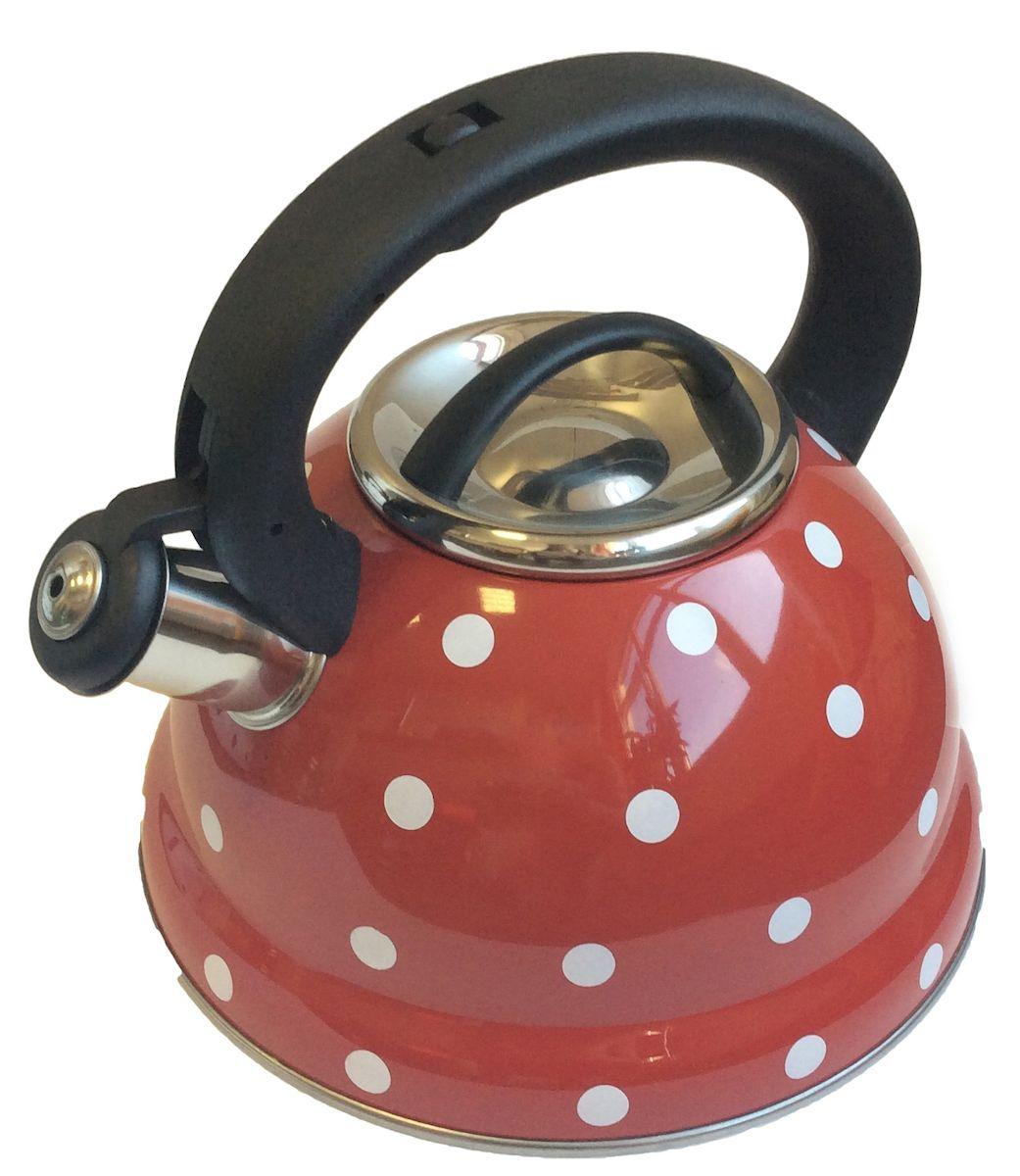 Чайник Hoffmann, со свистком, 3,3 л. НМ 5540НМ 5540_красный