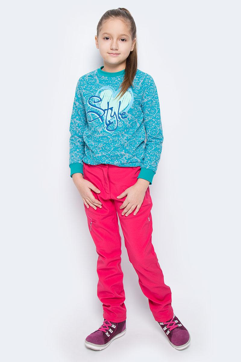 Брюки для девочки Icepeak Ronda Jr, цвет: темно-розовый. 651022546IV. Размер 152651022546IVБрюки для девочки Icepeak Ronda Jr выполнены из ветронепроницаемой ткани, с изнаночной стороны утеплены мягким флисом. Модель застегивается на молнию и металлическую пуговицу. Имеются шлевки для ремня. С внутренней стороны пояс регулируется резинкой на пуговицах. Брюки дополнены тремя прорезными карманами на застежках-молниях.