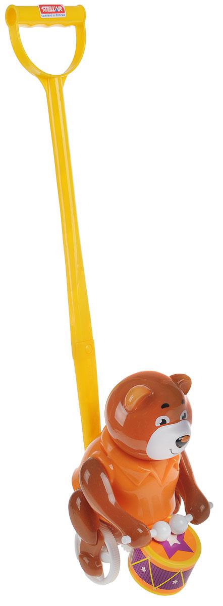 Stellar Игрушка-каталка Барабанщик цвет коричневый оранжевый stellar игрушка каталка бабочка