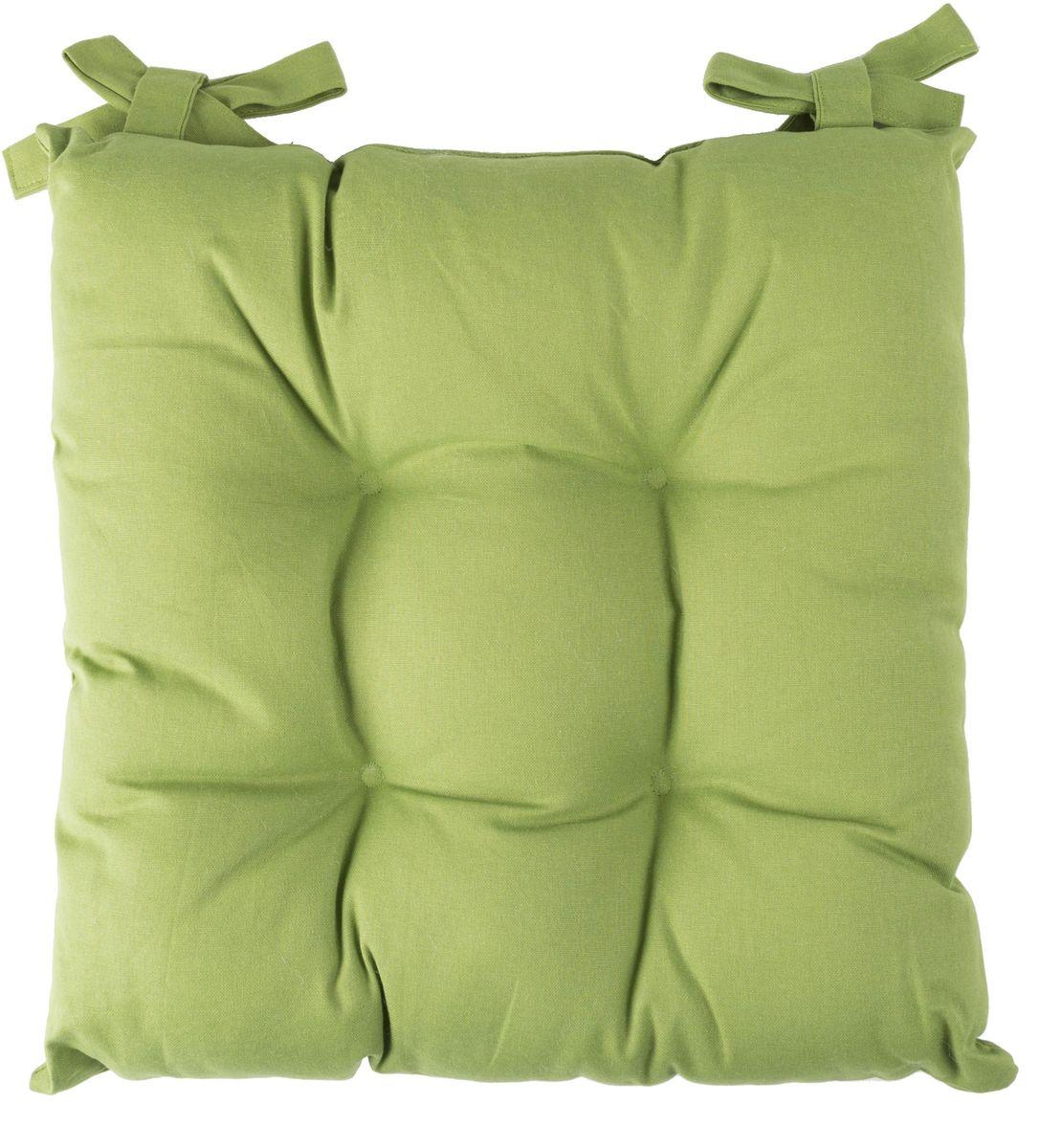 Подушка на стул Daily by Togas Каролина, цвет: салатовый, 45 х 45 см подушка декоративная togas пагода наполнитель полиэфир цвет синий золотой 45 х 45 см