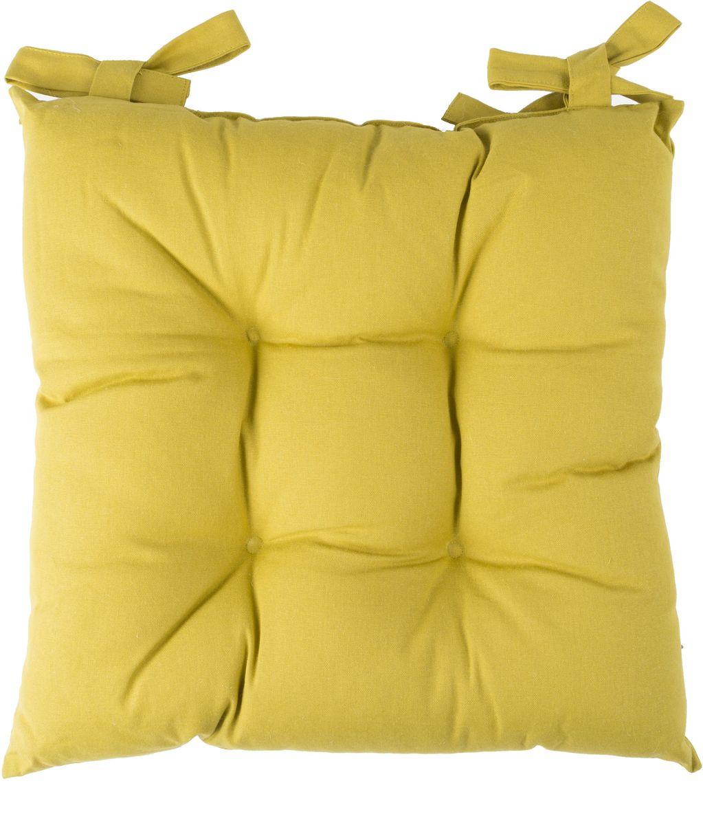 Подушка на стул Daily by Togas Стелла, цвет: горчичный, 45 х 45 см подушка декоративная togas пагода наполнитель полиэфир цвет синий золотой 45 х 45 см