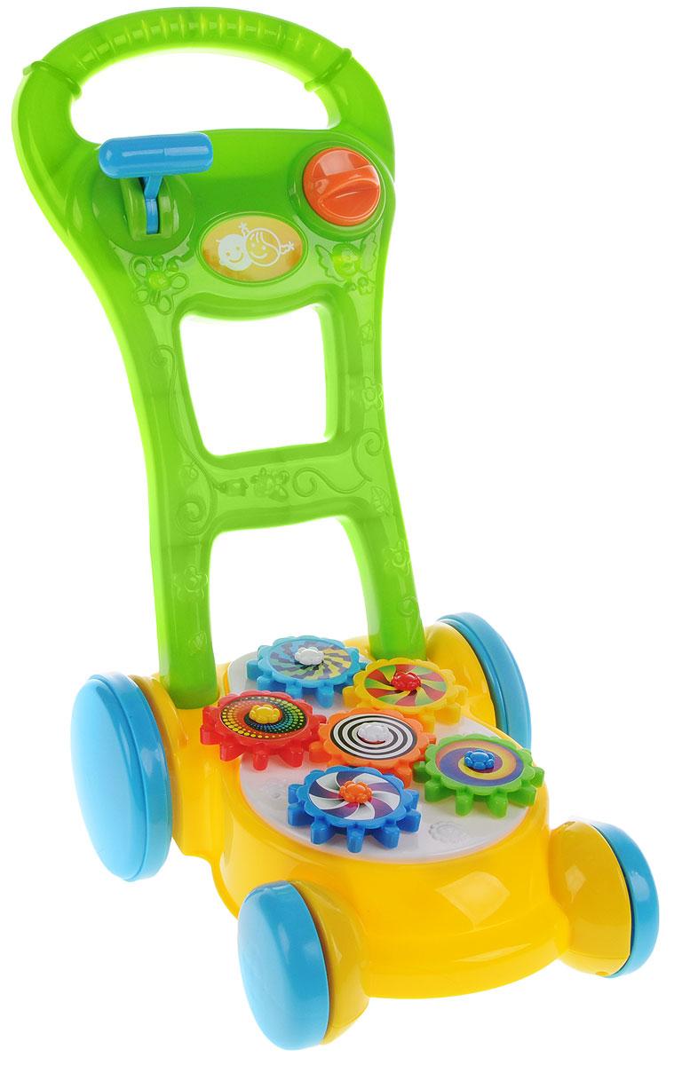 Playgo Игрушка-каталка Газонокосилка с шестеренками каталки playgo каталка телефон