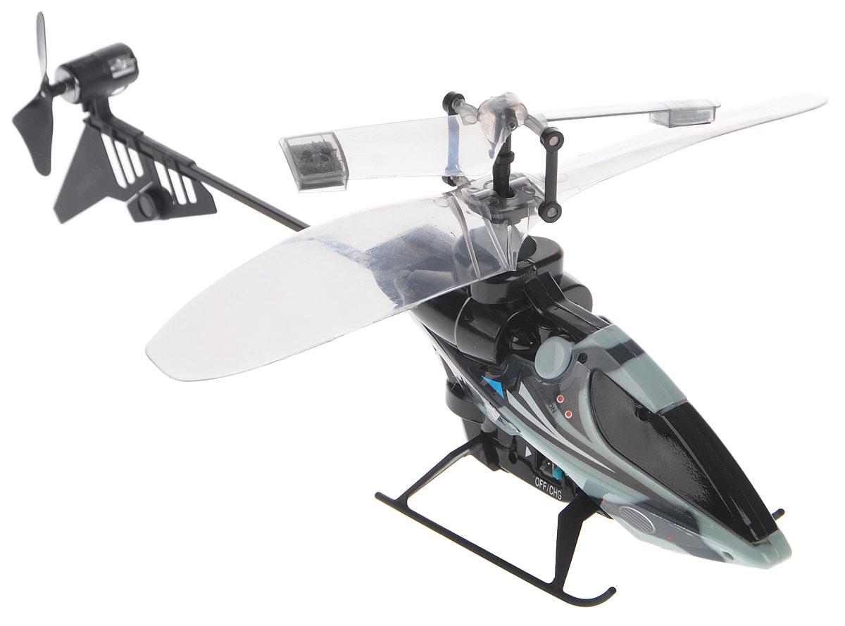 Silverlit Вертолет на инфракрасном управлении цвет серый черный silverlit вертолет на инфракрасном управлении вихрь цвет синий