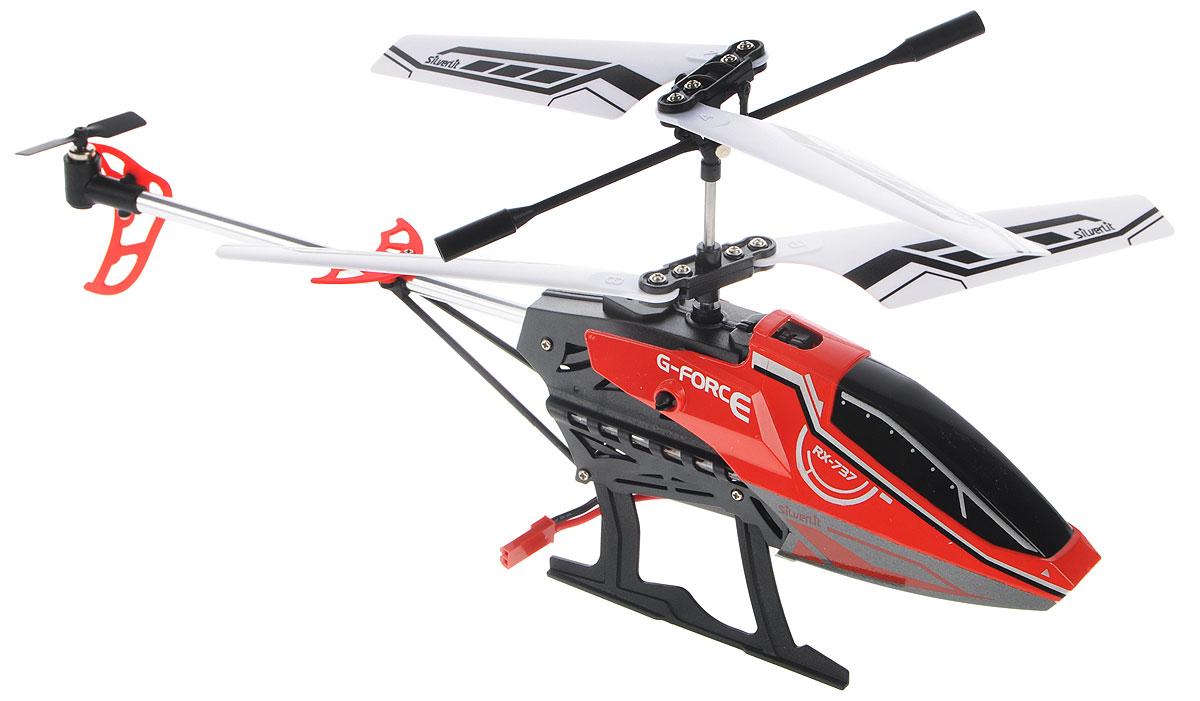 Silverlit Вертолет на радиоуправлении Sky Fury цвет красный черный вертолет sky dragon silverlit