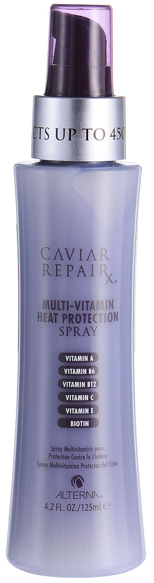 "Alterna Caviar Repair Rx Multi-Vitamin Heat Protection Spray — Мультивитаминный спрей с термозащитой 125 мл alterna спрей ""абсолютная термозащита"" caviar anti aging perfect iron spray 122ml"