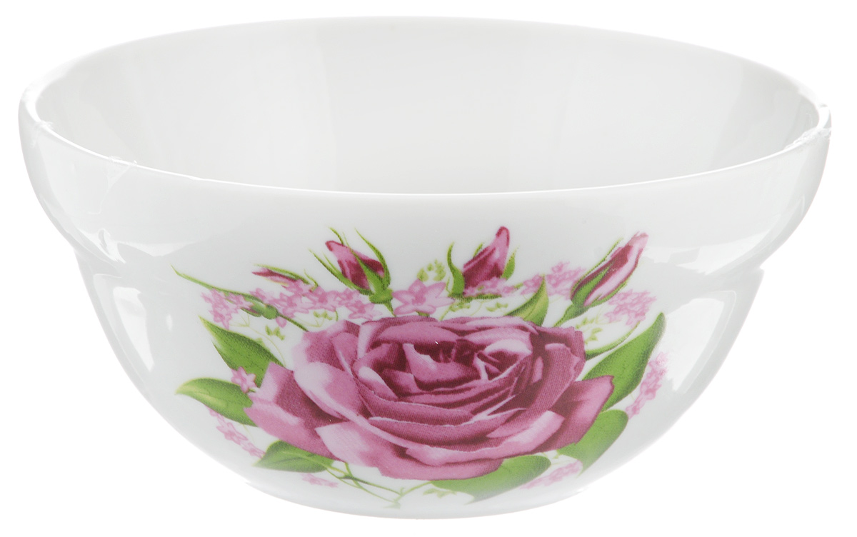 Салатник Фарфор Вербилок Розовые бутоны, 360 мл10861060Салатник Фарфор Вербилок Розовые бутоны изготовлен из высококачественного фарфора. Внешняя стенка оформлена красочным изображением. Такой салатник будет смотреться не только стильно, но и элегантно. Он дополнит коллекцию кухонной посуды и будет служить долгие годы. Диаметр салатника по верхнему краю: 12 см. Диаметр основания: 6 см.Высота салатника: 6 см.