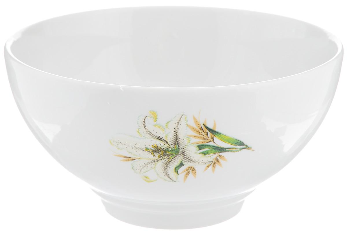 Салатник Фарфор Вербилок Белая лилия, 360 мл салатник фарфор вербилок цветущая земляника 360 мл