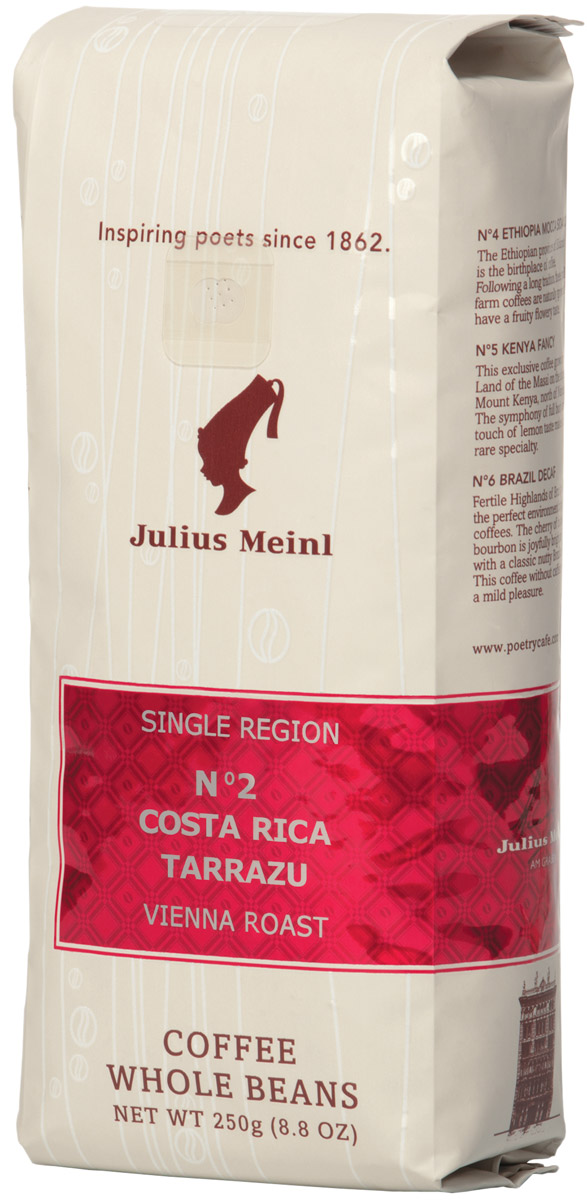 Julius Meinl № 2 Коста Рика Таррацу кофе в зернах, 250 г julius meinl президент кофе молотый 250 г