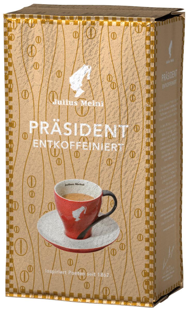Julius Meinl Президент кофе молотый без кофеина, 250 г82136Бленд, созданный на основе лучших кофейных зерен из Восточной Африки, обладает богатым ароматом с легкой кислинкой. Уровень кофеина минимальный и соответствует австрийским стандартам – всего 0,08%.Кофе: мифы и факты. Статья OZON Гид